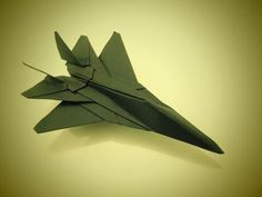 How to make an F16 Jet Fighter Paper Plane (Tadashi Mori) - YouTube