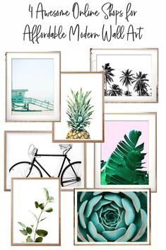 Love these online shops for affordable modern wall art! Great spots that I wouldn't have thought to look.