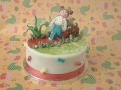 Qué os parece la tarta para Inés de 2 anitos paseando al perrito? ??? Buen finde besos