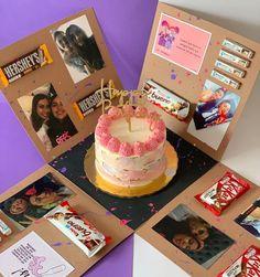 Cute Birthday Gift, Baby Birthday Cakes, Birthday Gifts For Best Friend, Birthday Box, Best Friend Gifts, Birthday Parties, Diy Crafts Hacks, Diy Arts And Crafts, Big Gift Boxes