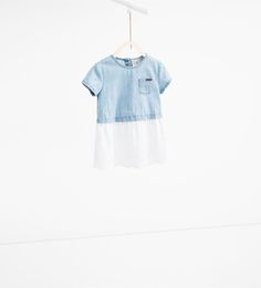 Contrast dress-DRESSES AND JUMPSUITS-BABY GIRL | 3 months-3 years-KIDS | ZARA United States