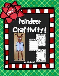 Reindeer Craftivity {FREEBIE!}
