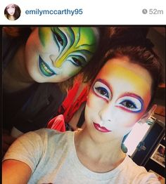 Lovely circus makeup!!!