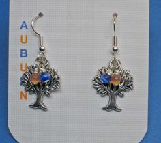 Auburn University Toomer's Corner Tree Earrings by gaylesjewelry, $15.00