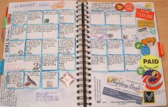 calendar journaling- cool idea for middle schoolers?