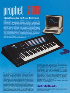 Sequential Circuits Prophet 2000 ~ German ad 1985