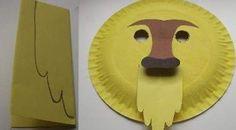 make beard for lion mask Lion King Crafts, Lion Craft, Paper Plate Masks, Paper Plates, Hobbies And Crafts, Arts And Crafts, Diy Crafts, Lion Mask, Islamic Studies