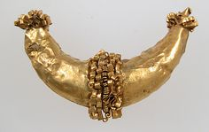 Gold Earring Fragment, 6-7th century, made in Northern France, Etruscan culture