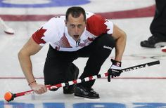 DAY 10:  E.J. Harnden of Canada competes during the Curling Men's Round Robin Session 10 - Canada vs. USA http://sports.yahoo.com/olympics