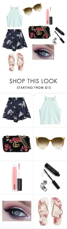"""""""Casual Sun"""" by supernatural-is-superamazing ❤ liked on Polyvore featuring C/MEO COLLECTIVE, Gucci, Steven Alan, MAC Cosmetics, Bobbi Brown Cosmetics and Havaianas"""