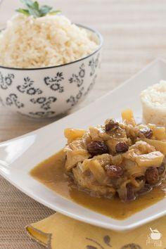 Pechuga de pollo al curry con piña » lapalmerarosa
