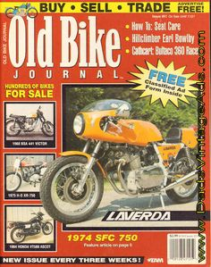 Cover Story: 1974 Laverda SFC 750 - Warren Dorn's limited-production Laverda was built for the long haul - literally; Features: King of the Hill - a look back at the career of ex-hillclimb champ Earl Bowlby; Bultaco 360 Roadracer Test - Cathcart rides a former Montjuich winner; Repair you bike&