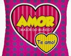 * ALMOFADA POP ART - AMOR !!!