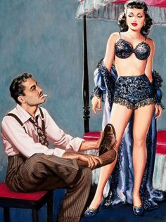 """""""Flesh is Weak"""" on a pulp digest cover (1951)"""