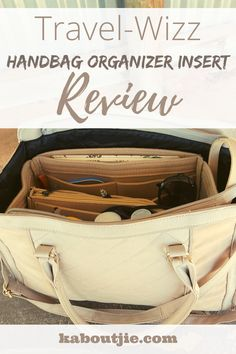 Finding things in a large bag can seem impossible, which is why I am loving this Travel-Wizz handbag organizer insert - read my full review for more. #HandbagOrganizer #Review #Fashion #Organization #TravelWizz #Accessories #Handbag #HandbagOrganizerInsert