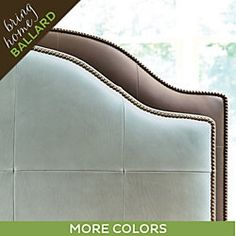Camden Untufted Leather Headboard with Nailheads