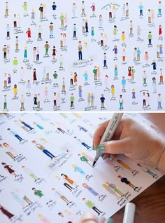 """HAVE To See This Free Printable Guest Book Idea! Print this adorable, colorable (and did we mention FREE) """"guests"""" guest book!Print this adorable, colorable (and did we mention FREE) """"guests"""" guest book! Wedding Cards, Diy Wedding, Wedding Gifts, Dream Wedding, Wedding Day, Wedding Parties, Homemade Wedding Favors, Graduation Party Decor, Wedding Guest Book"""