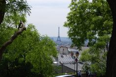 View from Sacre Coeur. Paris, France. May 2008