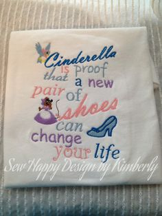 Cinderella  Inspired T Shirt by SewHapDesign on Etsy