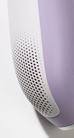 # Electronics Material Break Parametric Pattern Purple Speakers Texture Vent White