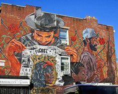 "Street Artist LNY | with ""Cost & Enx""  #Street #Art #Brooklyn"