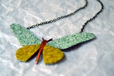Collar mariposa | Diseño exclusivo Art & Patch Barcelona