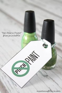 No Pinch Paint Free Printable | Create Craft Love