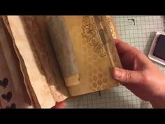 Part 4 Lets make a journal stamping on my pages #junkjournaljunkies - YouTube