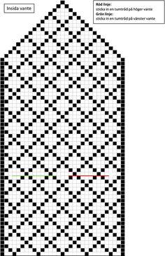 Diagram Chart, Mittens Pattern, Fair Isle Knitting, Mitten Gloves, Knit Crochet, Fair Isles, Charts, Socks, Colors