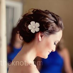 LOVE this hairstyle for the wedding! Just add a veil and we're good to go!
