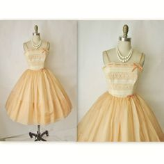 50's Prom Dress // Vintage 1950's Lace Organza by TheVintageStudio