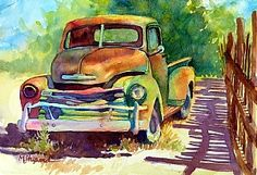 "OLD 50'S GEM by Mary Shepard Watercolor ~ Image: 6"" x 10"" unframed"