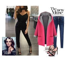 """""""daily look -----  jumpsuit"""" by suger-520 on Polyvore featuring jeans, jumpsuit, coats and lovelywholesale"""