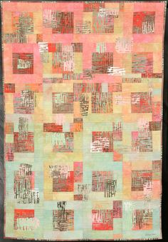 """""""Crossing Boundaries"""" by Eileen A Alber.  Hand dyed and screen printed fabric.  2nd Place: Art Abstract, 2011 Road to California show"""