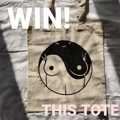"""Hunter Satyn on Instagram: """"WIN THIS TOTE! ~ Competition time Honeys🍯 Win this hand painted 'the good the bad the titties' tote bag to brighten up your quarantine! ~…"""" Competition Time, Presents, Symbols, Hand Painted, Good Things, Tote Bag, Christmas, Bags, Painting"""