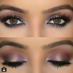 Purple and silver eye look