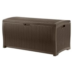 Suncast Resin Wicker Deck Box - Brown (73 Gallon)