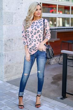25dad14a525 Wild Ways Leopard Top - Blush