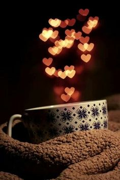 Good Morning coffee cup/hearts #CoffeeLovers