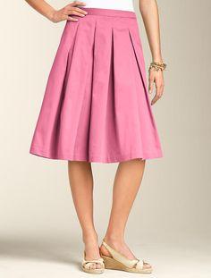 Talbots - Sateen Pleated Full Skirt | Skirts | Misses