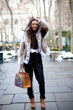 I'm ready for chilly weather so I can wear my leopard jacket!
