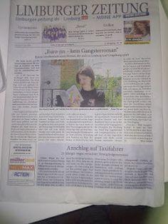 Schreib-Welten: Ich bin in der Zeitung ... und sehr nass