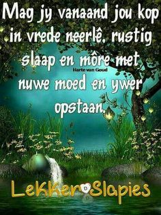 Goeie Nag, Good Night Wishes, Afrikaans, Messages, Quotes, Harp, Qoutes, Quotations