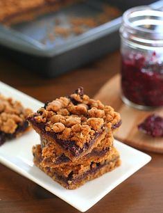Peanut Butter and Jam Bars Low carb and Gluten-free