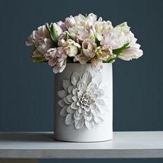 Dahlia Vase - White