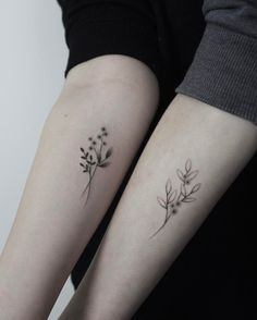 "2,902 Likes, 23 Comments - lara maju (@laramaju) on Instagram: ""for lisa and anna hand poked at @cocoschwarz #handpoked #tattoo #botanicaltattoo #wildflowers…"""