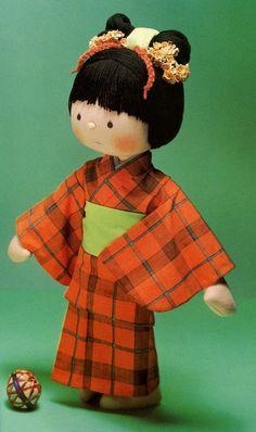 19 Kimono Rag Doll Plush and Tutorial Sewing von AliceInCraftyland