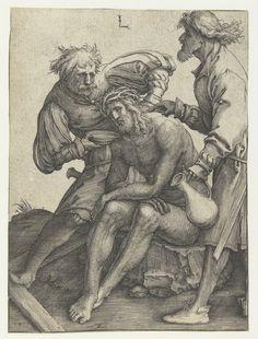 Artist: van Leyden, Lucas, Title: Soldaten geven Christus te drinken, Date: 1510-1514