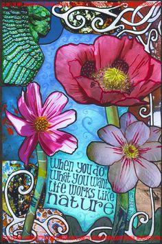 Life Works Like Nature -- A.J.'s Art Journal Beautiful!