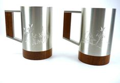 Items similar to Pair of Selangor Pewter Tankards Etched with Teak Handles and Bases Mid Century Tiki on Etsy Pewter Tankard, Tropical Design, Really Cool Stuff, Teak, Vintage Items, Mid Century, Jewelry Making, Pairs, Etsy Shop